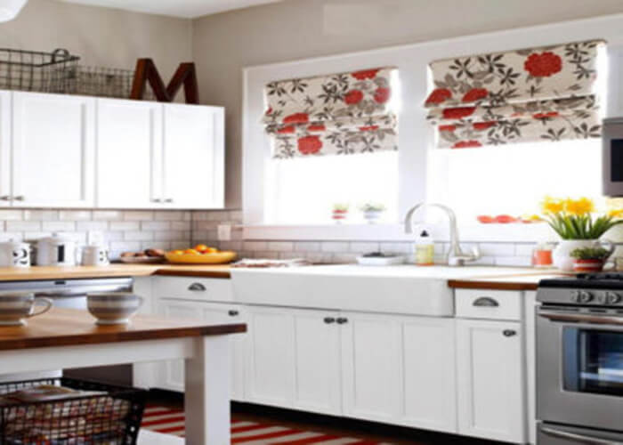 Curtains For A Tropical Kitchen